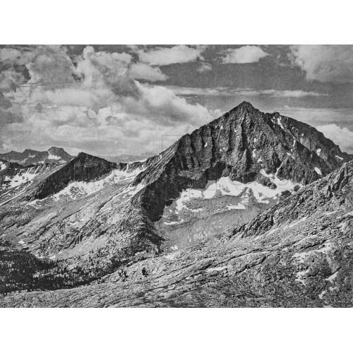 Arrow Peak from Cartridge Pass, a Photograph by Ansel Adams