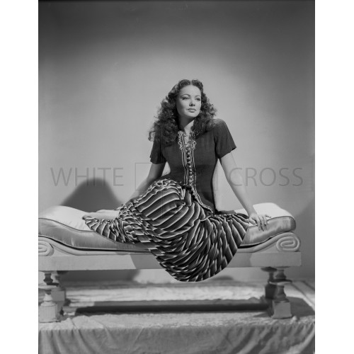 Gene Tierney Seated on Lounging Chair, an Archival Print