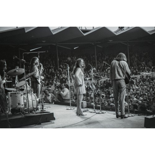 Janis Joplin and Big Brother & the Holding Company Performing for Audience at Monterey Pop Festival, an Archival Print