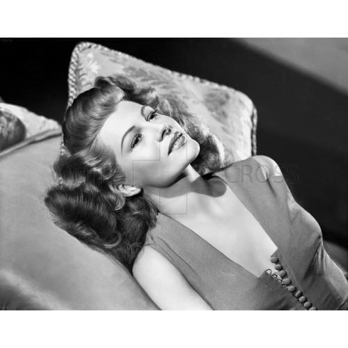 Rita Hayworth Lounging, an Archival Print