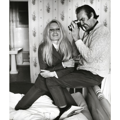 Brigitte Bardot and Sean Connery with Camera, an Archival Print