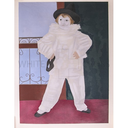 Son of the Artist Masked Before a Balcony, 1926 Pablo Picasso Lithograph