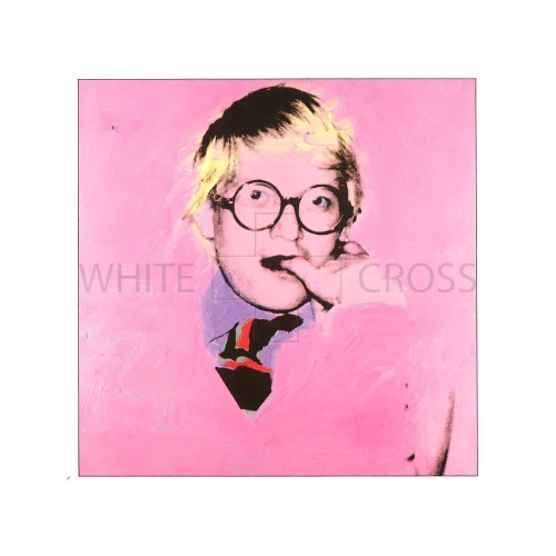 Limited edition numbered lithograph by Andy Warhol of his iconic David Hockney Portrait