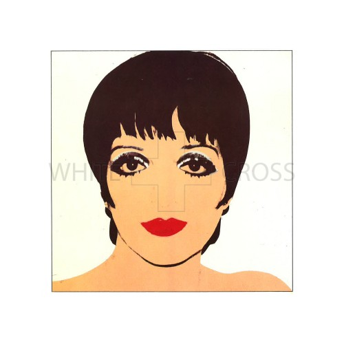A Limited edition lithograph by Andy Warhol of his iconic print of Liza Minnelli